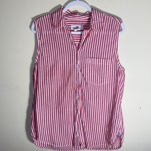 H&M Tops - H&M Button Up Sleeveless Top size 10